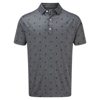 Footjoy Smooth Pique Fj Tonal Print Herr